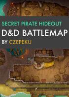 Secret Pirate Hideout DnD Battlemaps