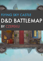Flying Sky Castle DnD Battlemaps