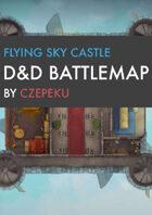 Flying Sky Castle DnD Battlemaps