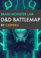 Brain Monster Lair DnD Battlemaps