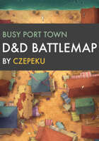Busy Port Town DnD Battlemaps