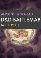 Ancient Hydra Lair DnD Battlemaps