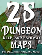25 Printable Dungeon Maps