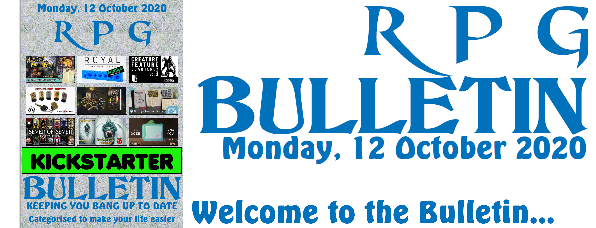 RPG Bulletin 12th October 2020 welcome to the bulletin