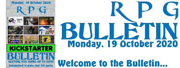 RPG Bulletin 19th October 2020 welcome to the bulletin