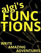 algi's Functions: Write Amazing Adventures