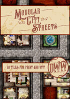 Fantasy City Street Modular Map - Base Pack (Hand-drawn)