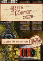 Hero's Cemetery Battlemap (Hand-drawn)