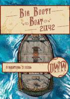 Big Booty Boat Battlemap (Hand-drawn)