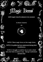 Magic Items - 1d100 magic items for (almost) every moment
