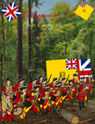 French & Indian War 44th Regiment paper soldiers