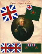 1782-1783 British Queen's Rangers Flags
