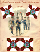 1814-1864 Hesse-Darmstadt Light Infantry Regiment Flag