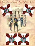 1814-1864 Hesse-Darmstadt Light Infantry Regiment Flag