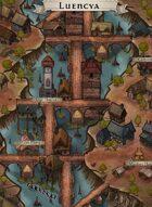 """""""Luencya"""" River Bridge Village Map"""