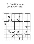 Free Dungeon Geomorphs: Six 10x10 square tiles