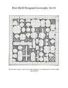 30x30 Dungeon Geomorphs: Set 1