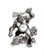 NerdGore Stock Art: Giant Ape / Sasquatch