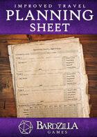 Improved Travel: Planning Sheet