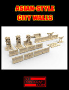Asian-Style Human City Walls