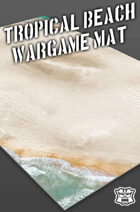 Tropical Beach Wargame Battle Mat