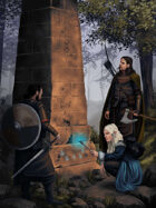 Full Page, Mysterious Obelisk Stock Art