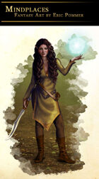 Elven Sorceress Stock Art