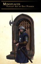 Soldier Guarding Gate Stock Art