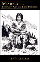 Line Art, Young Warrior With Sword