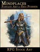 Female Elf Warrior RPG Stock Art