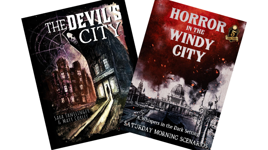 Covers of The Devil's City and Horror in the Windy City