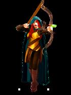 Human Female Archer - RPG Stock Art