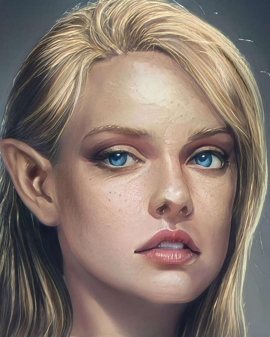 View Female Elf Art  Background