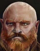 Dwarf Male Portrait Bald with Red Beard (RPG Stock Art)