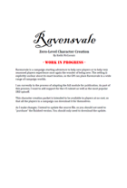 Ravensvale Character Creation Handout