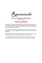 Ravensvale Character Advancement Handout