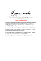 Ravensvale Players' Introduction to the Campaign