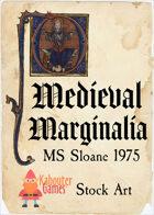 Medieval Marginalia - BL Sloane 1975 - STOCK ART