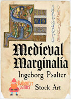 Medieval Marginalia - Ingeborg Psalter - STOCK ART