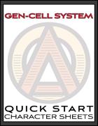 Gen-Cell System (™) Quickstart Character Sheets
