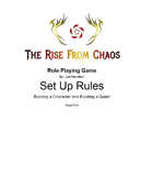 The Rise From Chaos Role Playing Game