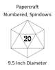 Papercraft d20 - Numbered, Spindown - 9.5in