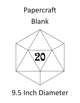 Papercraft d20 - Blank - 9.5in