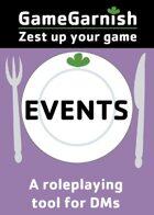 GameGarnish Events
