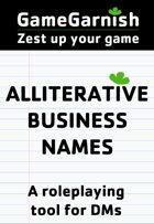 GameGarnish Alliterative Business Names