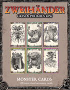 ZWEIHANDER Grim & Perilous RPG: Monster Cards