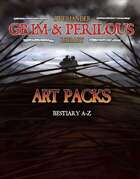 Art Pack: Bestiary A-Z (Grim & Perilous Library) - Templates for Zweihander RPG