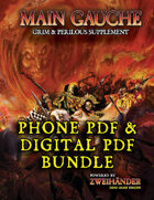 MAIN GAUCHE: Supplement for Zweihander RPG (Phone PDF + Digital PDF)