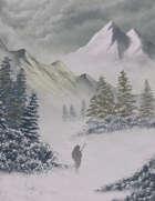 Arctic Winter Full Page Stock Art Frozen Pass