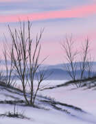 Arctic Winter Full Page Stock Art Winter Plains